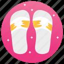 flat, flipflop, footwear, sandel, shoes, slippers icon