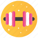 dumbell, exercise, gym equipment, powerlifting, workout icon