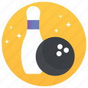 bowling, bowling ball, game, indoor game, sport equipments icon