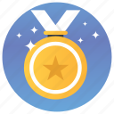 badge, bronze, medal, prize, ribbon medal, shield icon