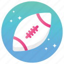 american football, rugby, rugby ball, support ball, supports equipment icon