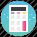 calculation, calculator, commarical, computer, mathematical tool, pda icon