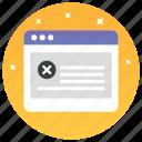 block website, blockweb, page error, web error, www icon