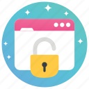 network security, protected network, protection, secure web, web lock, web security icon