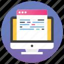 development, seo, seo content, technological development, web content icon