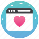 favourite browser, favourite web, favourite website, heartest web, www icon