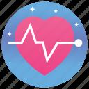 cardiology, ecg, healthcare, heartbeat, lifeline, pulse icon