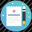 doctor suggestion, medical document, medical prescription, medicine prescription, prescription icon