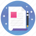 dairy, stationary, writing equipment, writing material, writing note, writing tools icon