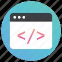 program development, software development, web coding, web configuration, web development icon