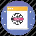 internet symbol, networking, web, website, www icon