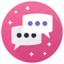 chat, conversation, messages, talk, text, typing icon