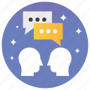 chat, communication, conversation, dialogues, discussion icon