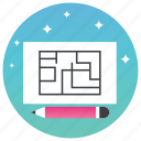 geographical map, map maker, map making, map sketching, mapping icon