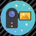 camcorder, digital camera, handycam, polaroid, video camera, video shooting icon