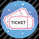 cinema tickets, coupon, film tickets, movie tickets, tickets icon