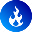 blaze, burn, burning, fire, flame, gradient, hot icon