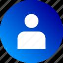 account, avatar, gradient, person, profile, user icon