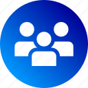 employers, gradient, group, people, staff, users, workers icon