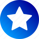 favorite, gradient, rate, rating, shape, star icon