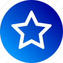 favorite, gradient, hollow, outline, rate, rating, star icon