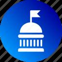 building, bureau, governamental, gradient, institution, state icon