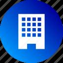 building, business, company, corporate, enterprise, gradient icon
