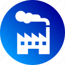 factory, fog, gradient, industry, plant icon