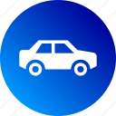 automobile, car, drive, gradient, vehicle icon