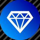 asset, diamond, good, gradient, jewel, quality, ruby icon