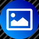 bitmap, gradient, image, landscape, photo, picture icon