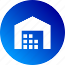 depot, gradient, in stock, stock, storage, warehouse icon