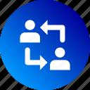 collaboration, gradient, help, participation icon