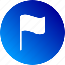 banner, flag, gradient, waving flag icon