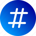 gradient, hash, hastag, number, number sign, sharp icon