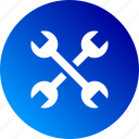 configuration, gradient, settings, technical, tool, tools, wrench icon