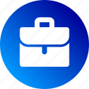 briefcase, business, gradient, job, portfolio, suitcase icon