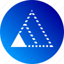 gradient, minimum, minimum viable product, proportional, scalable, triangle, triangles icon