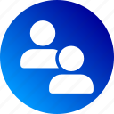 gradient, person, profile, users icon
