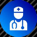 cross, doctor, health, medical, nurse, preferences, stethoscope icon