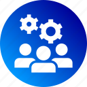 cog, gradient, people, preferences, settings, users icon