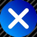 close, delete, gradient, remove, times icon