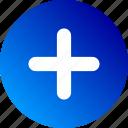create, gradient, increase, more, plus icon