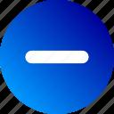 cancel, decrease, gradient, less, minus, remove icon