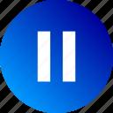 audio, controls, gradient, pause, playback, stop, video icon