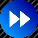 arrow, audio, audio controls, forward, gradient, playback, video icon