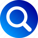 find, gradient, magnifier, magnify, search, zoom icon