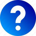 ask, doubt, faq, gradient, help, question mark icon
