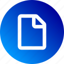 blank, document, file, gradient, paper, sheet icon