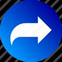 arrow, forward, gradient, reply, right, send icon